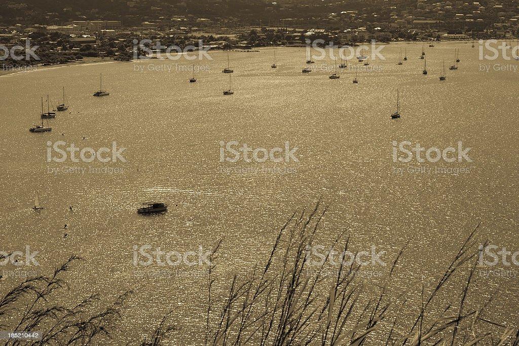 'Golden Rodney Bay, St. Lucia' stock photo