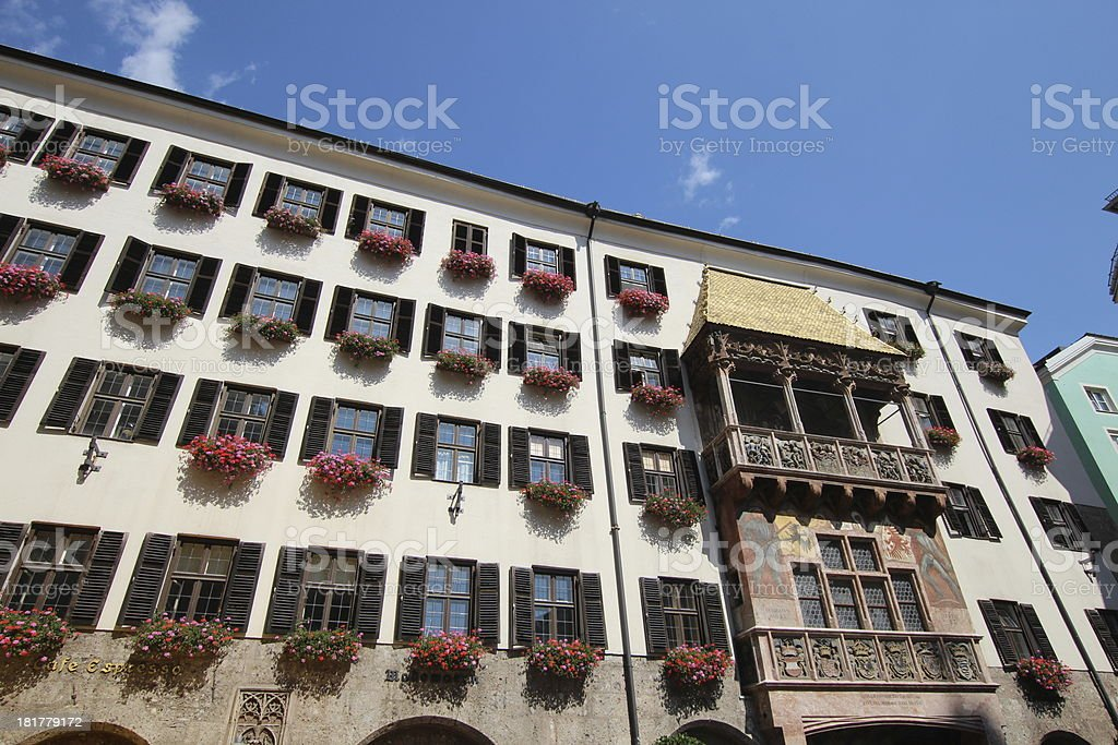 Golden Roof, Goldenes Dachl, Centre of Historic Old Town, Innsbruck royalty-free stock photo