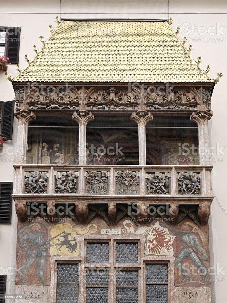 Golden roof in Innsbruck royalty-free stock photo