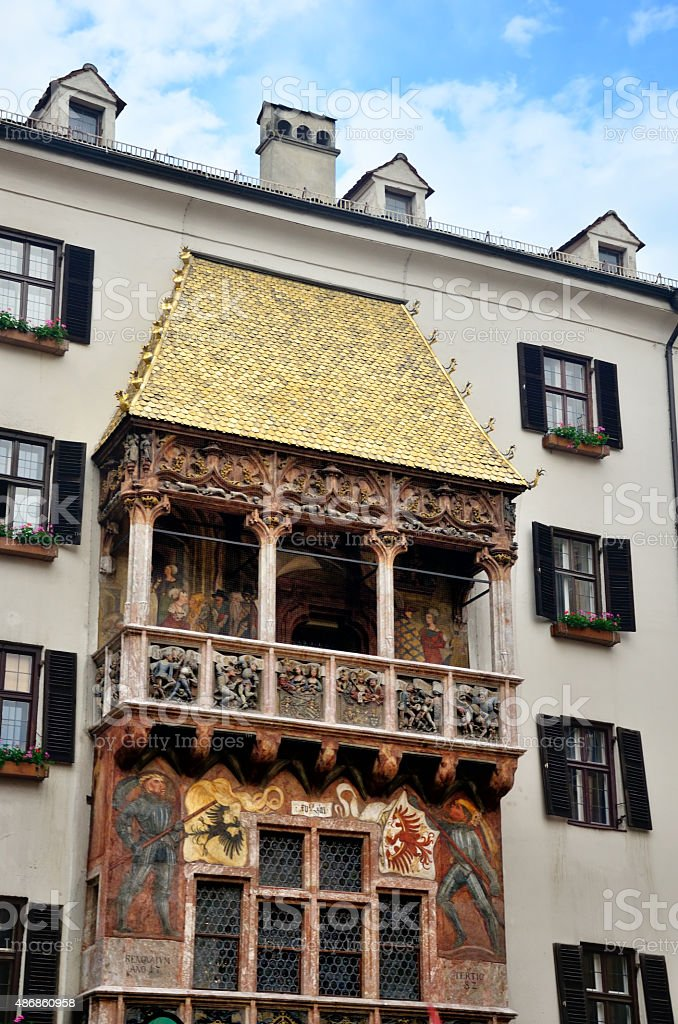 Golden roof in Innsbruck stock photo