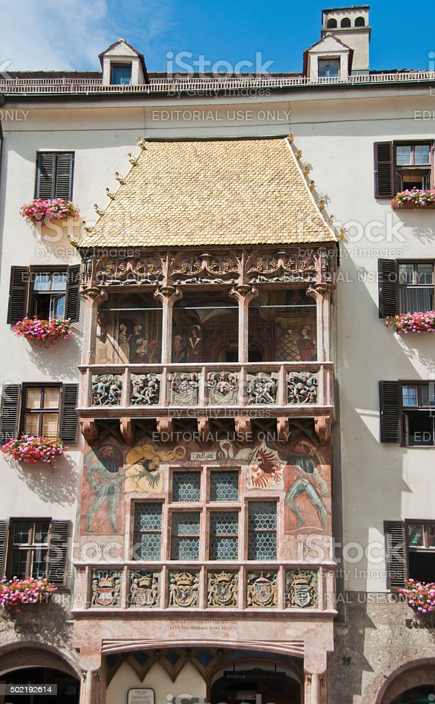 Golden Roof, Innsbruck, Austria stock photo