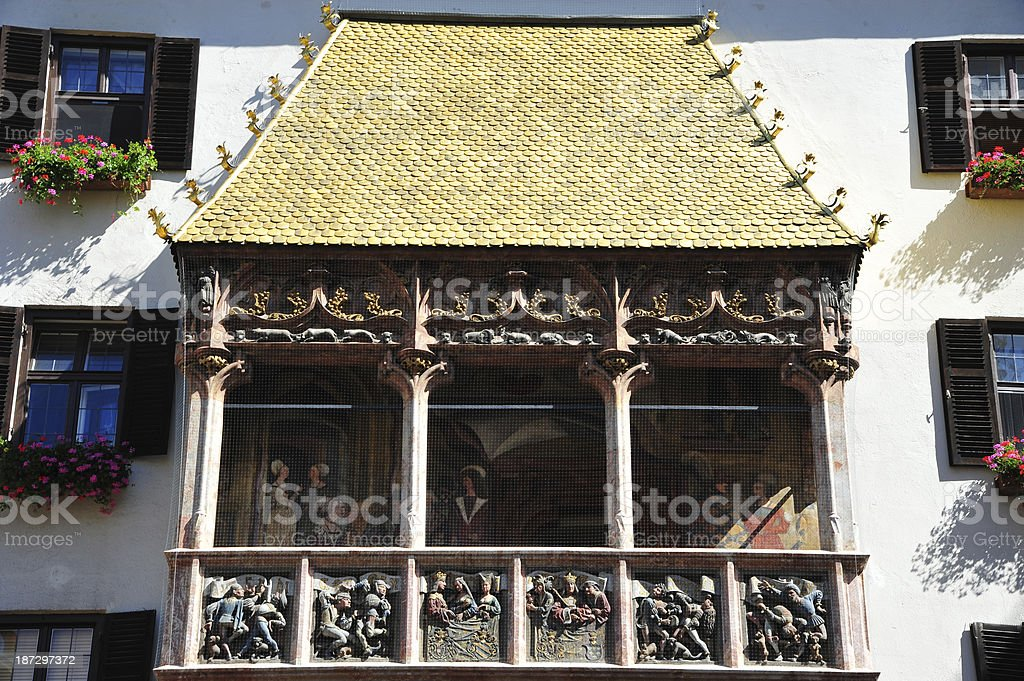 Goldenes Dachl, Innsbruck royalty-free stock photo