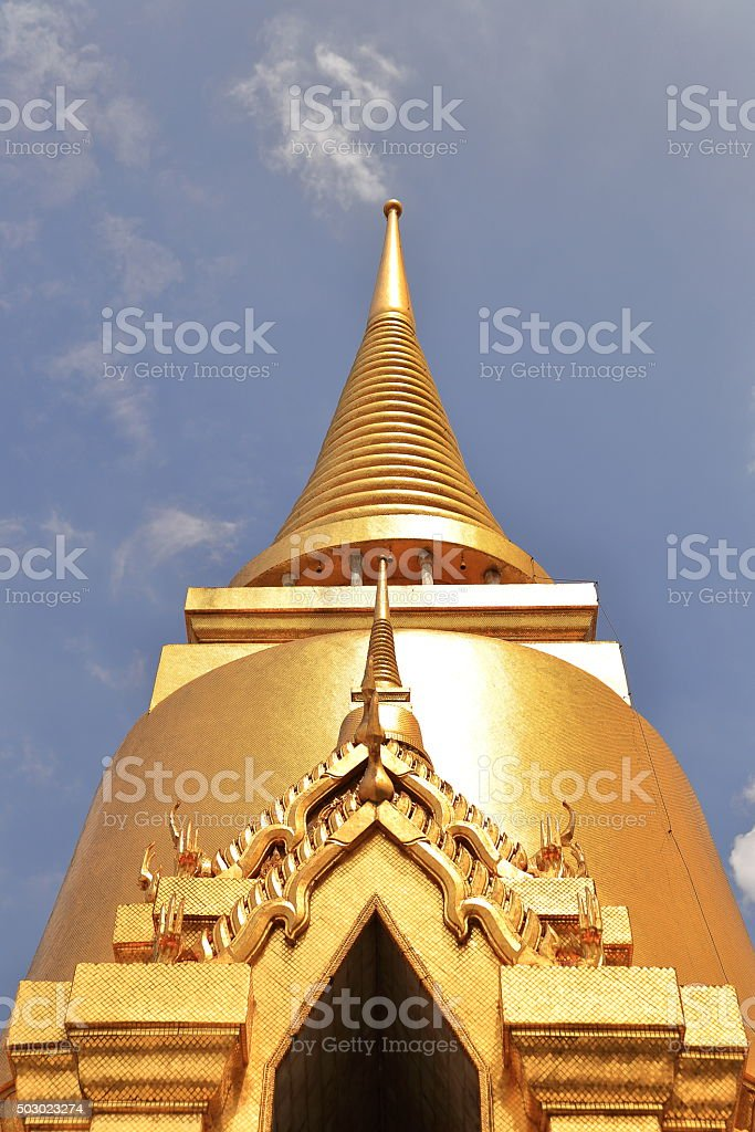 golden roof-royal palace-bangkok stock photo