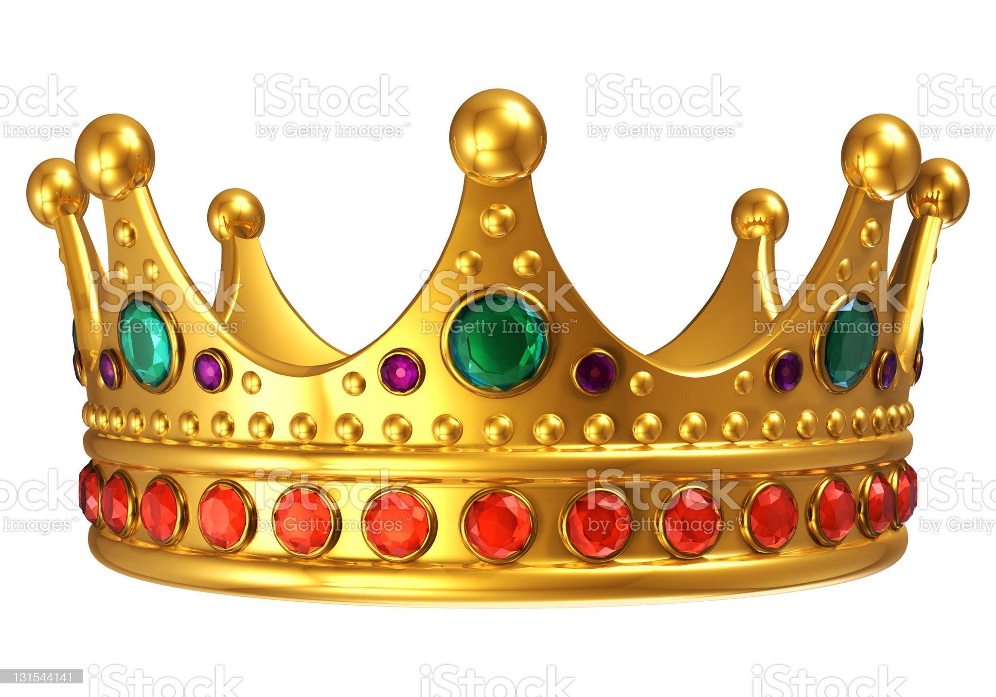 Golden royal crown royalty-free stock photo