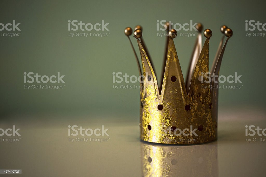 Golden royal crown stock photo