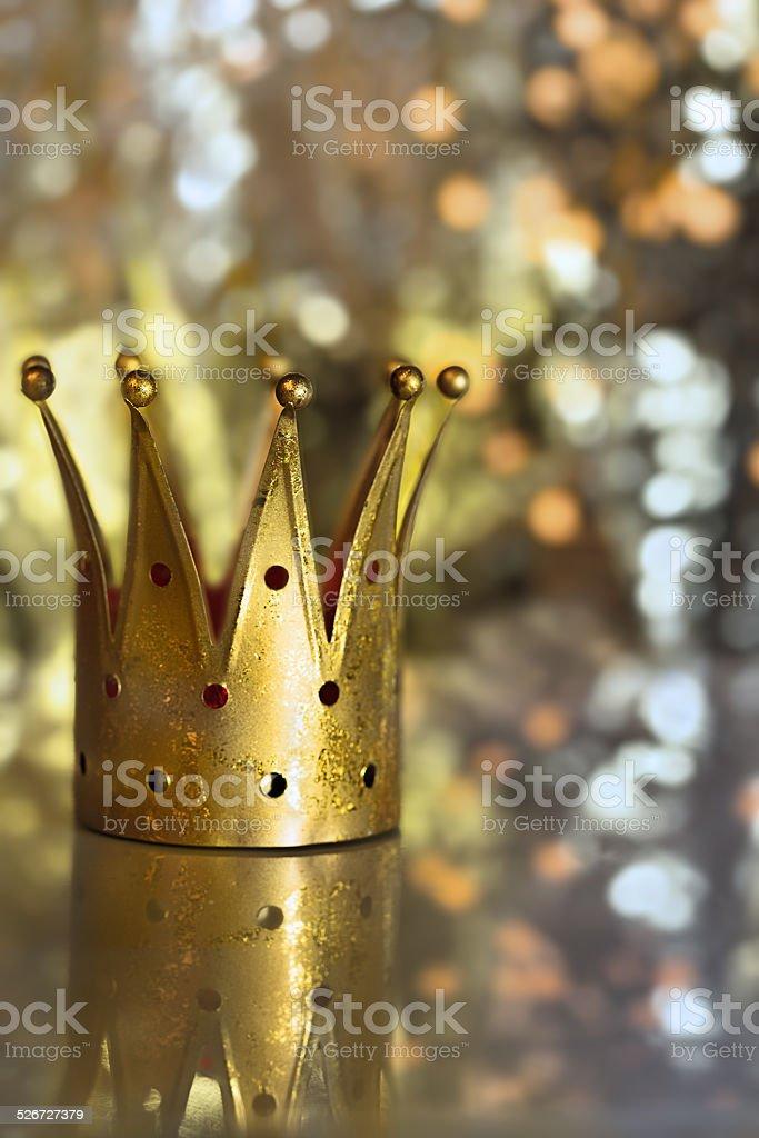 Golden royal crown stock photo