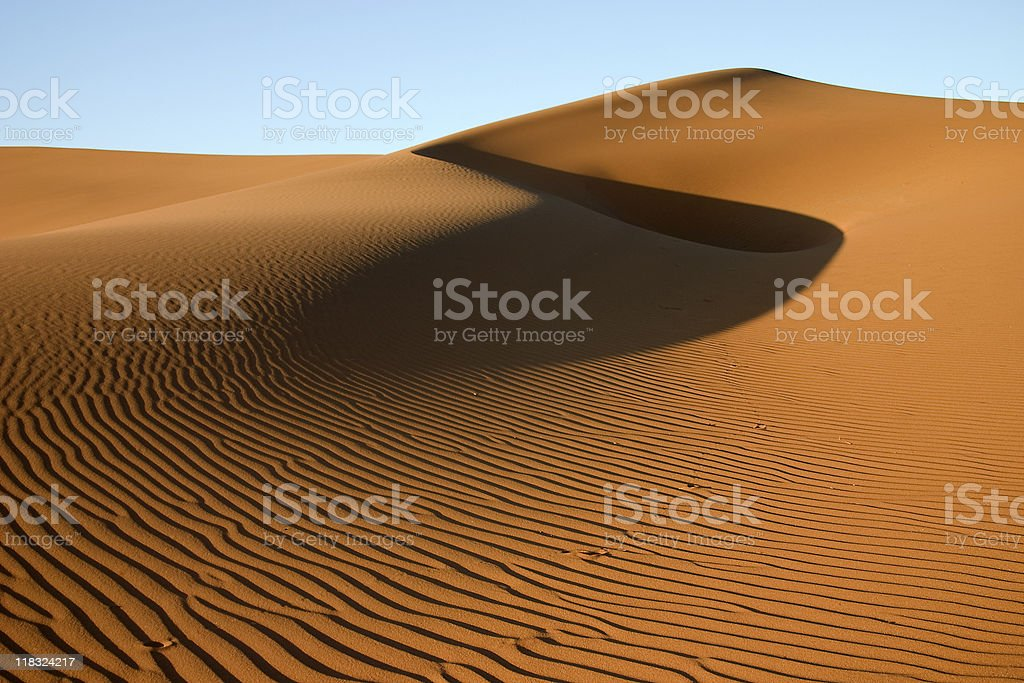Golden sand dune stock photo
