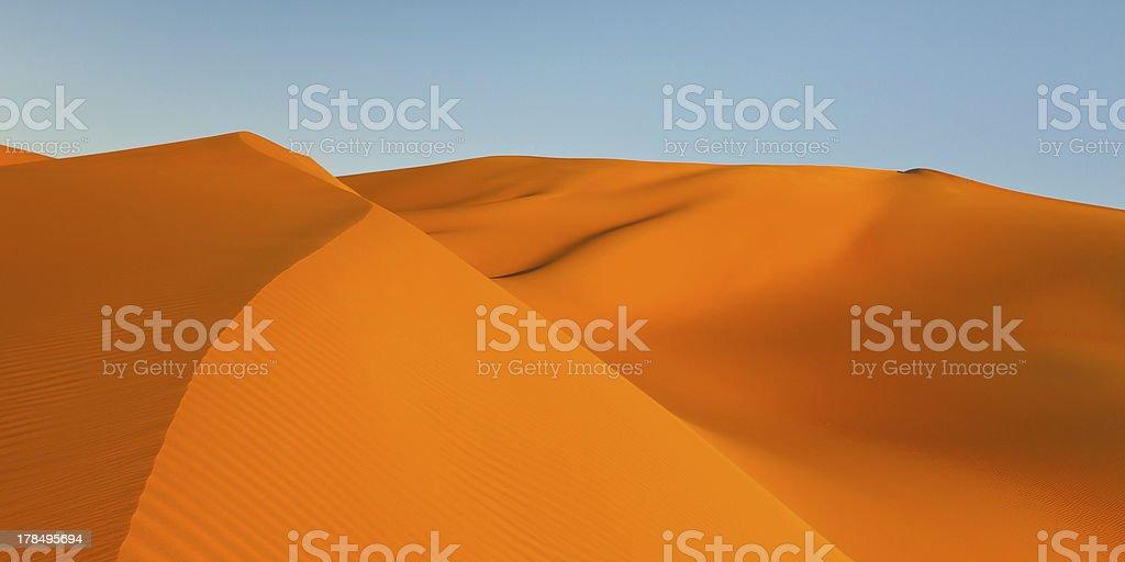 Golden Sand Dunes Panorama royalty-free stock photo