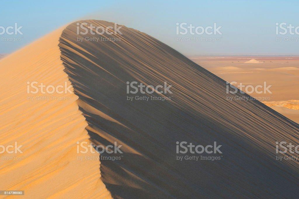 Golden sand in Sahara desert in Egypt stock photo