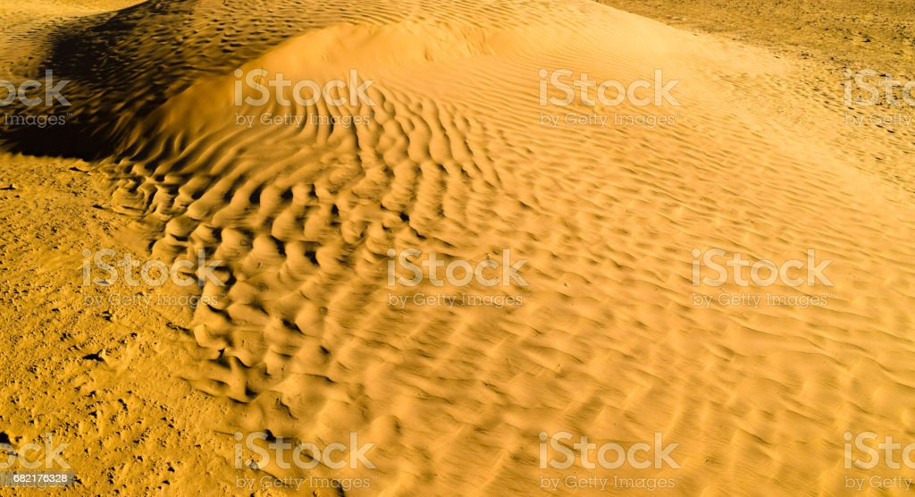 Golden sands of the desert. African untouched wild nature stock photo