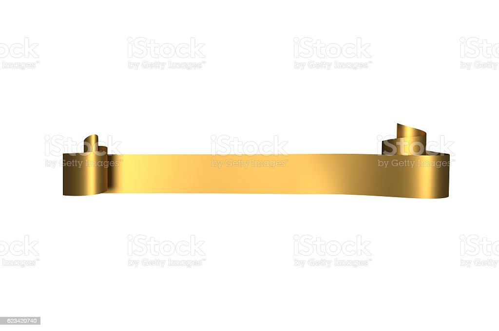 Golden Satin Ribbon stock photo