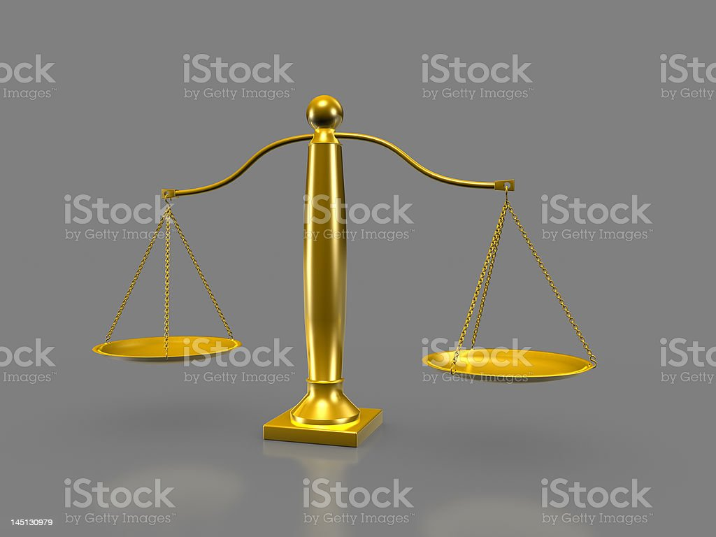 Golden scale royalty-free stock photo