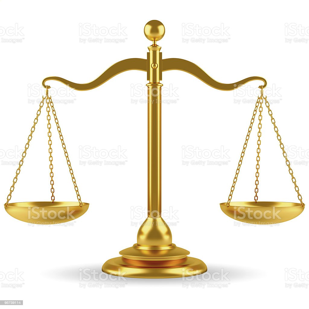 Golden scale stock photo