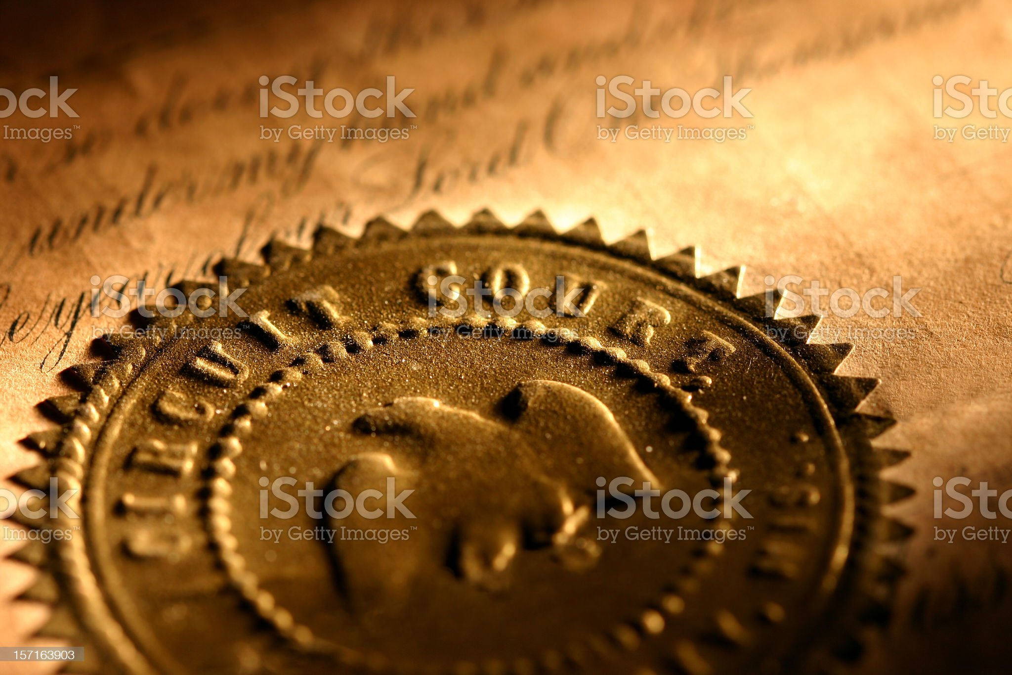 Golden Seal - Circuit Court royalty-free stock photo