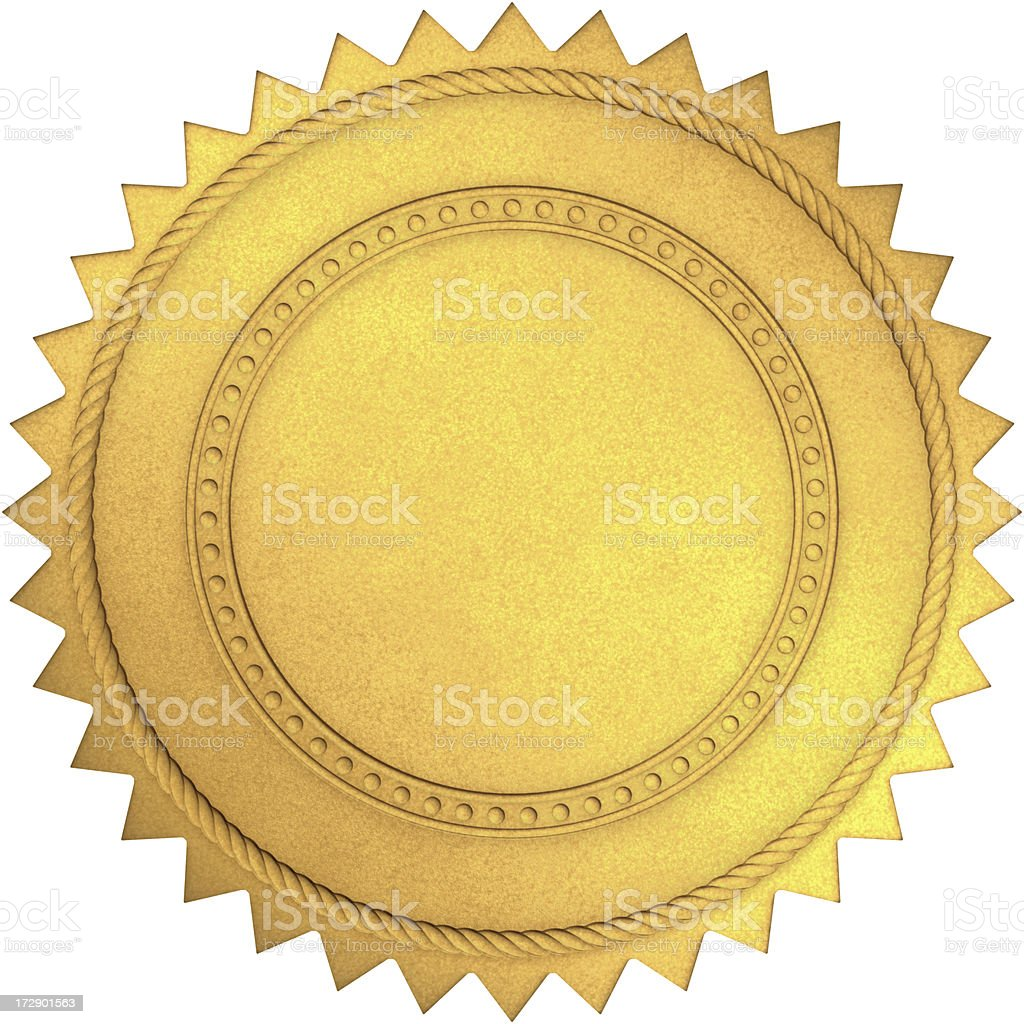 Golden Seal stock photo