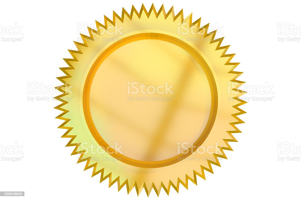 Golden Seal Isolated on a white background.