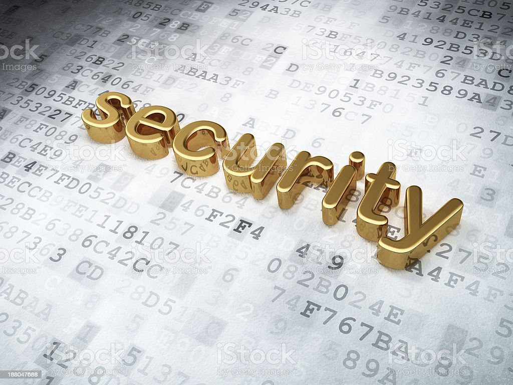 golden security on digital background royalty-free stock photo