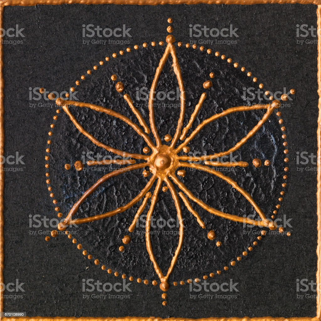 Golden seed of life stock photo