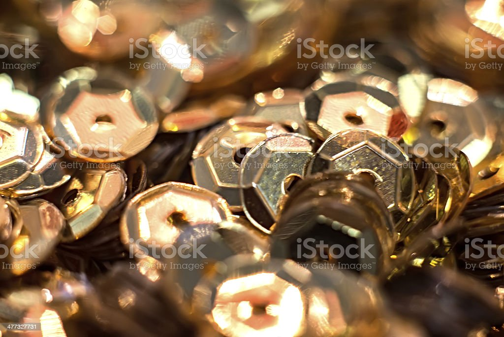 golden sequins royalty-free stock photo