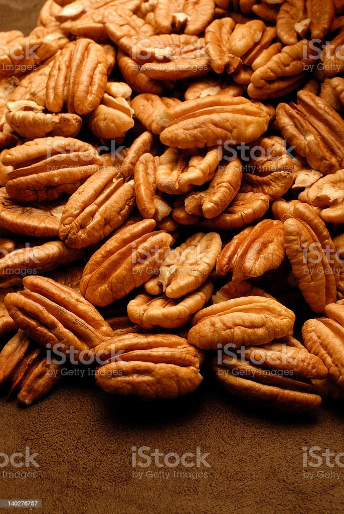 Golden Shelled Pecans royalty-free stock photo