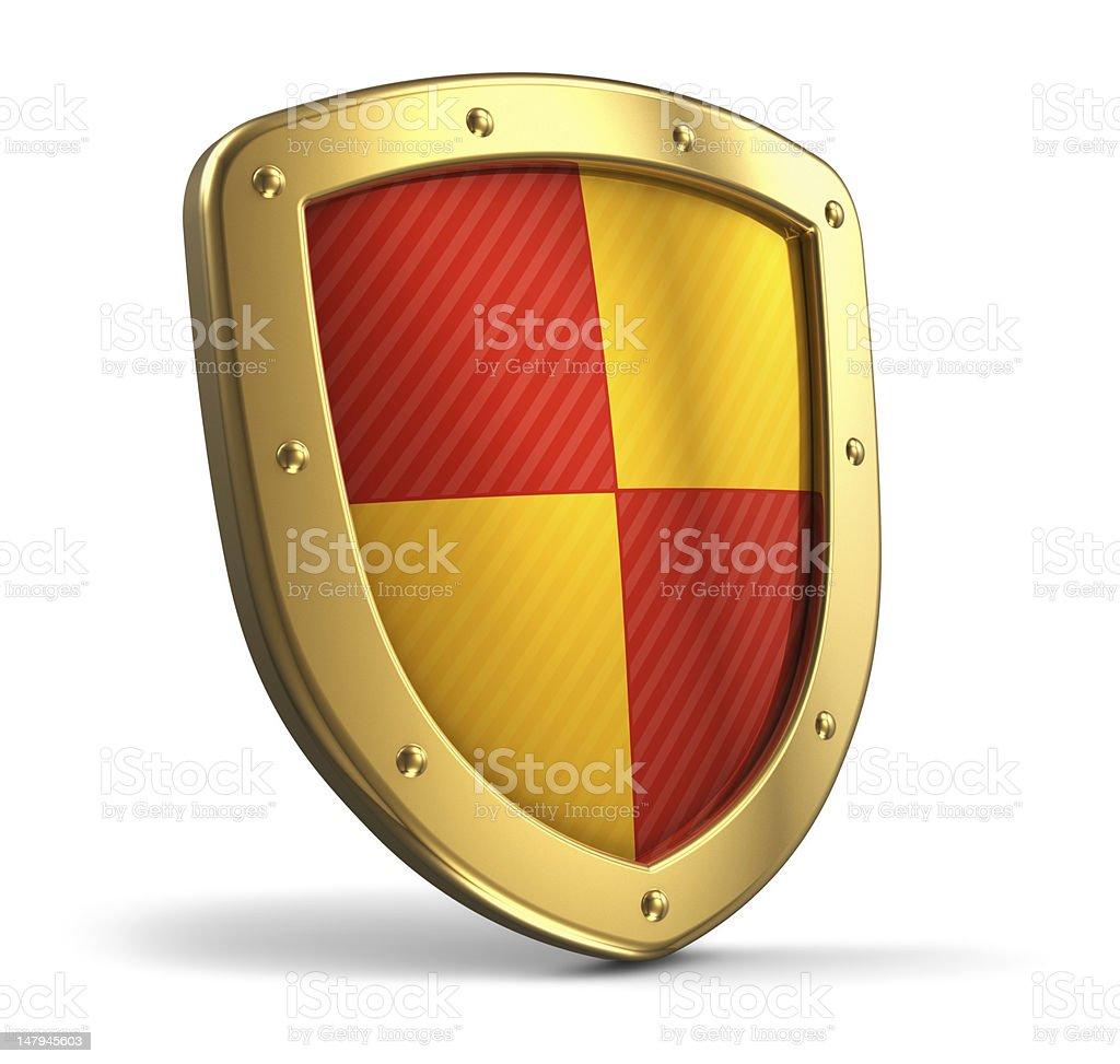 Golden shield royalty-free stock photo