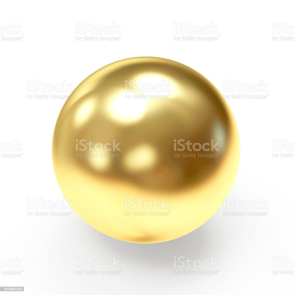 Golden shining sphere stock photo