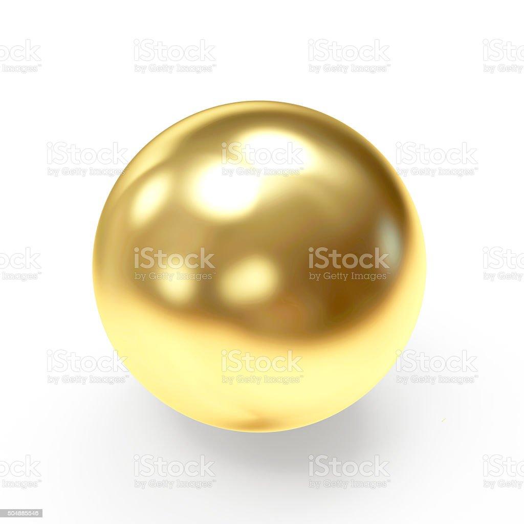 Golden shining sphere stock photo