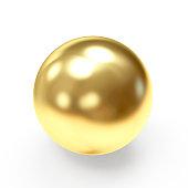 Golden shining sphere