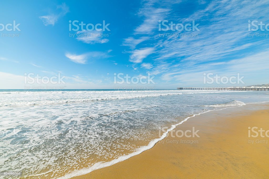 golden shore in Pacific Beach stock photo