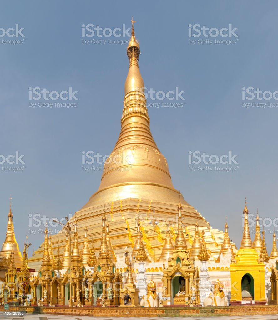 Golden Shwedagon Pagoda, Myanmar royalty-free stock photo