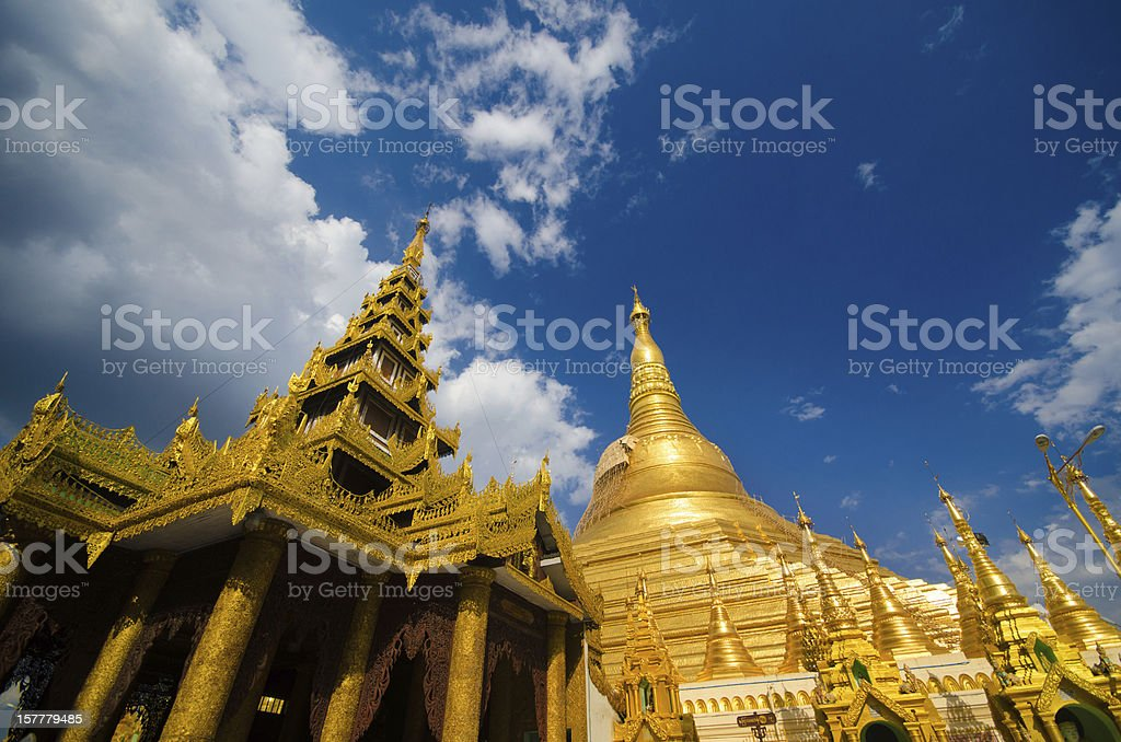 Golden Shwedagon Paya royalty-free stock photo