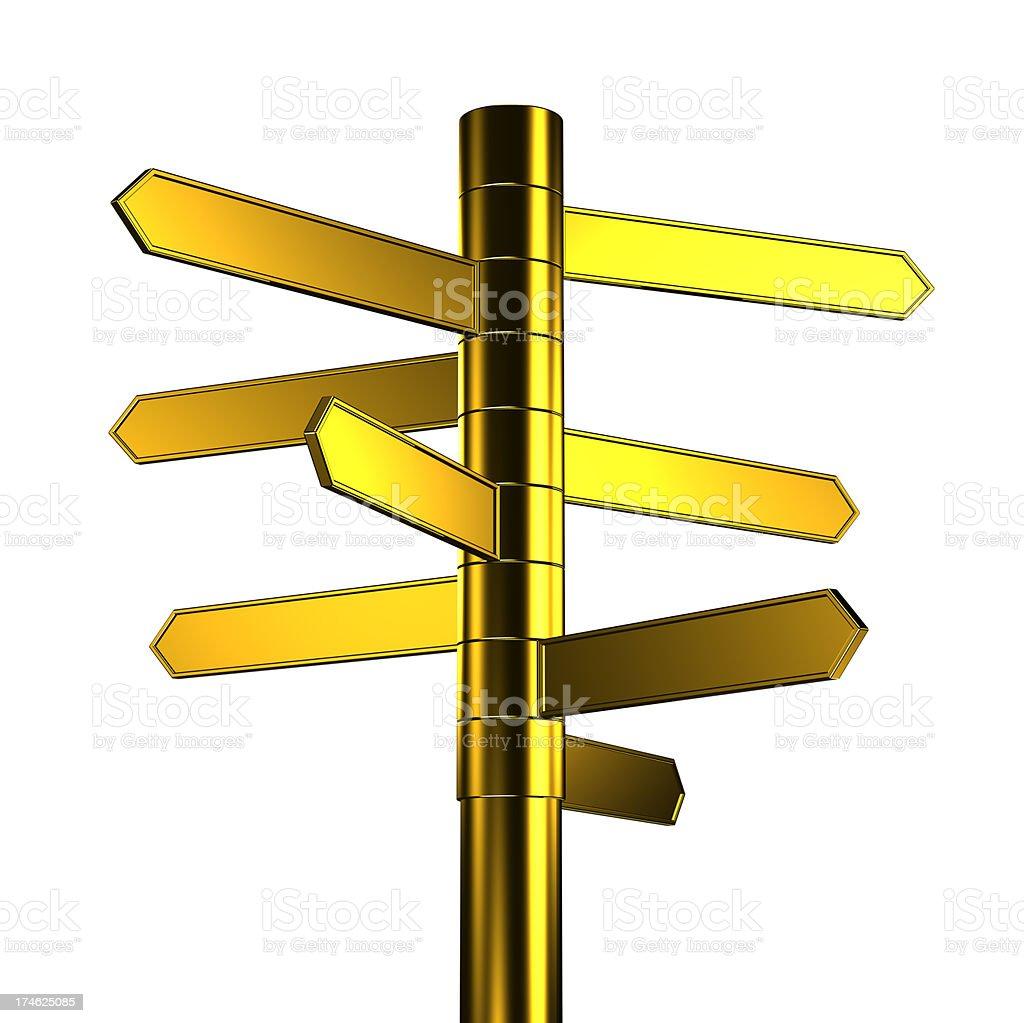 Golden Signpost royalty-free stock photo