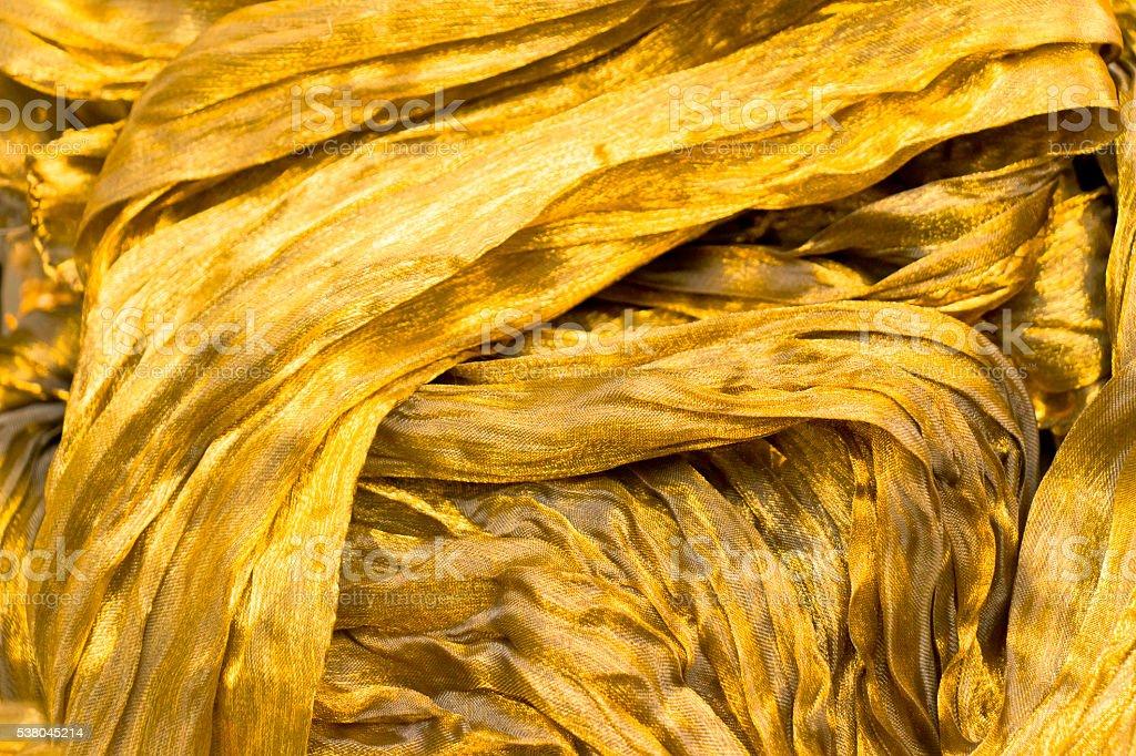Golden Silk Background stock photo