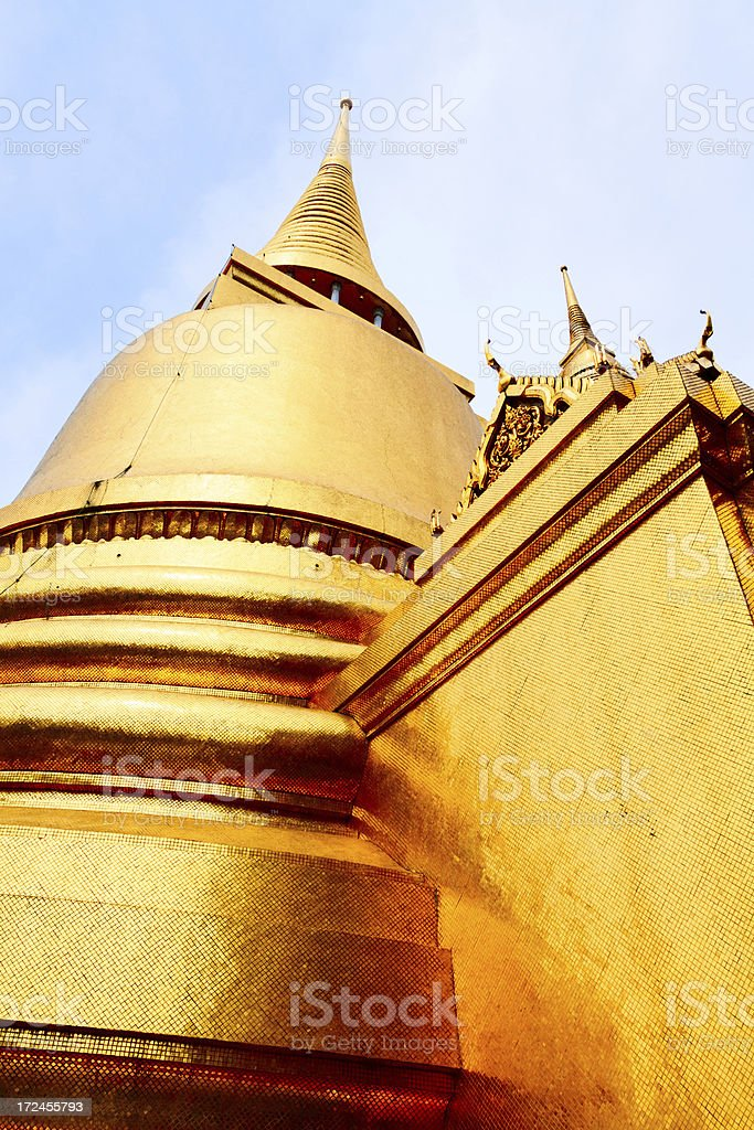 Golden Siratana Chedi royalty-free stock photo
