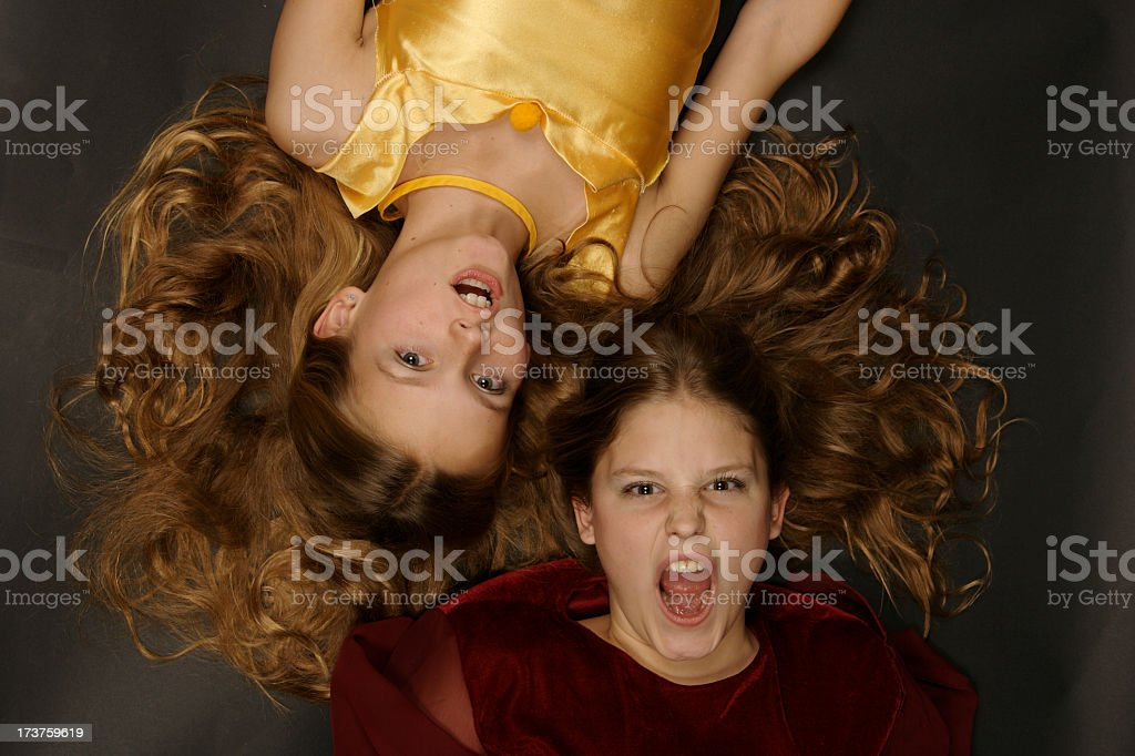 Golden Sisters royalty-free stock photo
