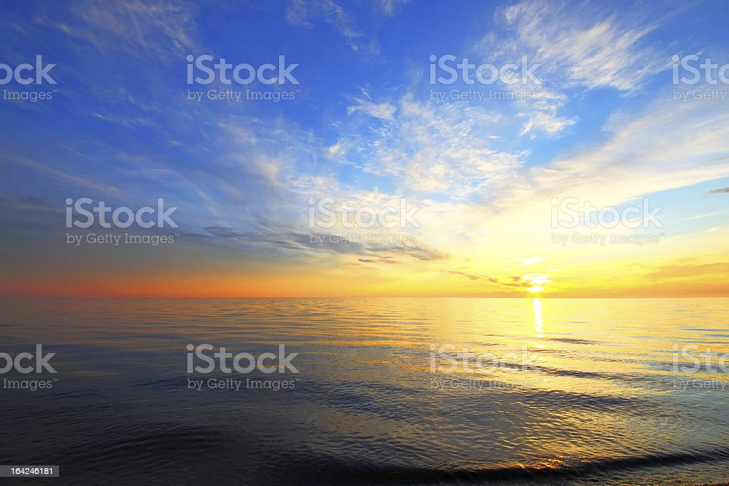 Golden sky of a decline royalty-free stock photo