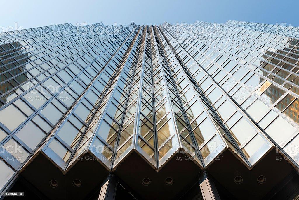 Golden Skyscraper in Toronto stock photo