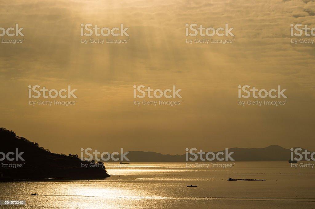 golden slumber royalty-free stock photo