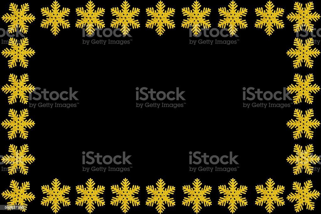 Golden Snowflake Greeting Card stock photo