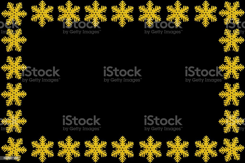 Golden Snowflake Greeting Card stock photo