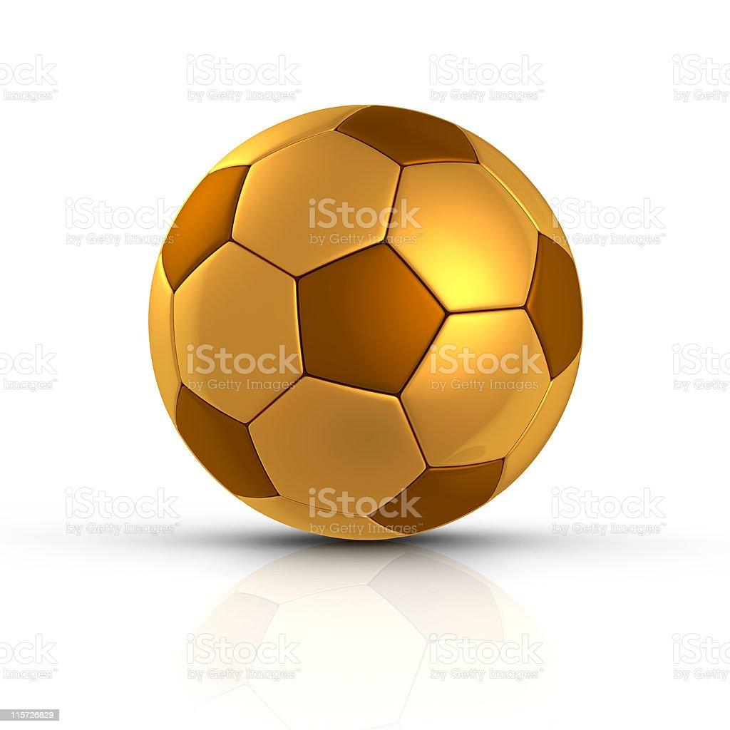 Golden soccer ball royalty-free stock photo