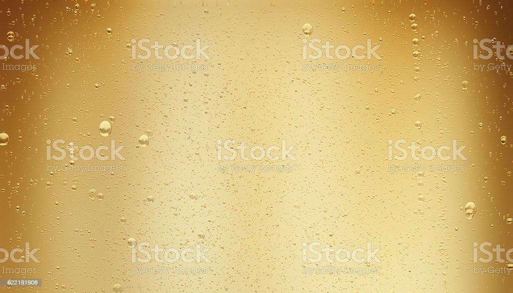 Golden Sparkling Champagne Bubbles stock photo