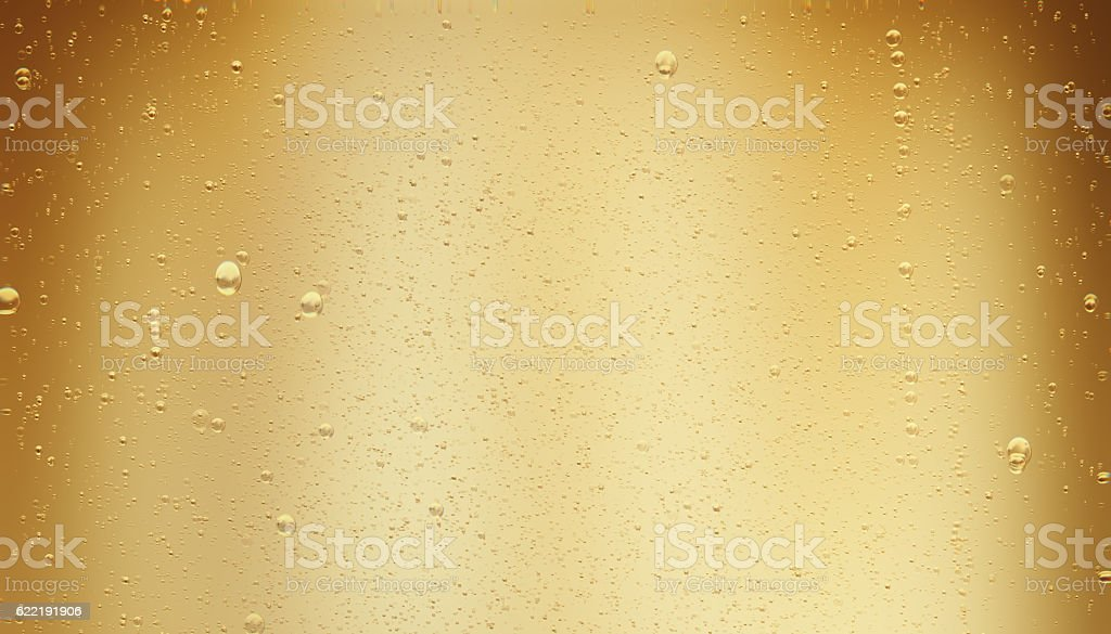 Golden Sparkling Champagne Bubbles stock photo