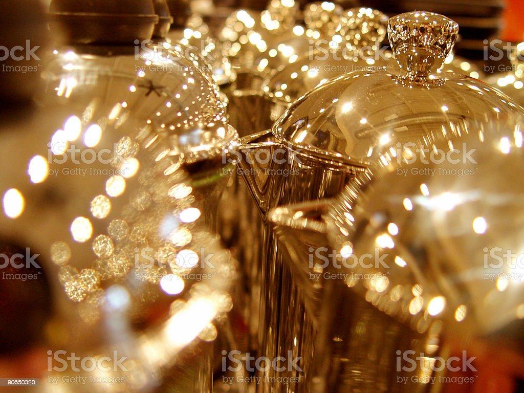 golden sparkling creamers stock photo