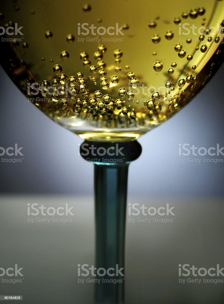 golden sparkling wine stock photo