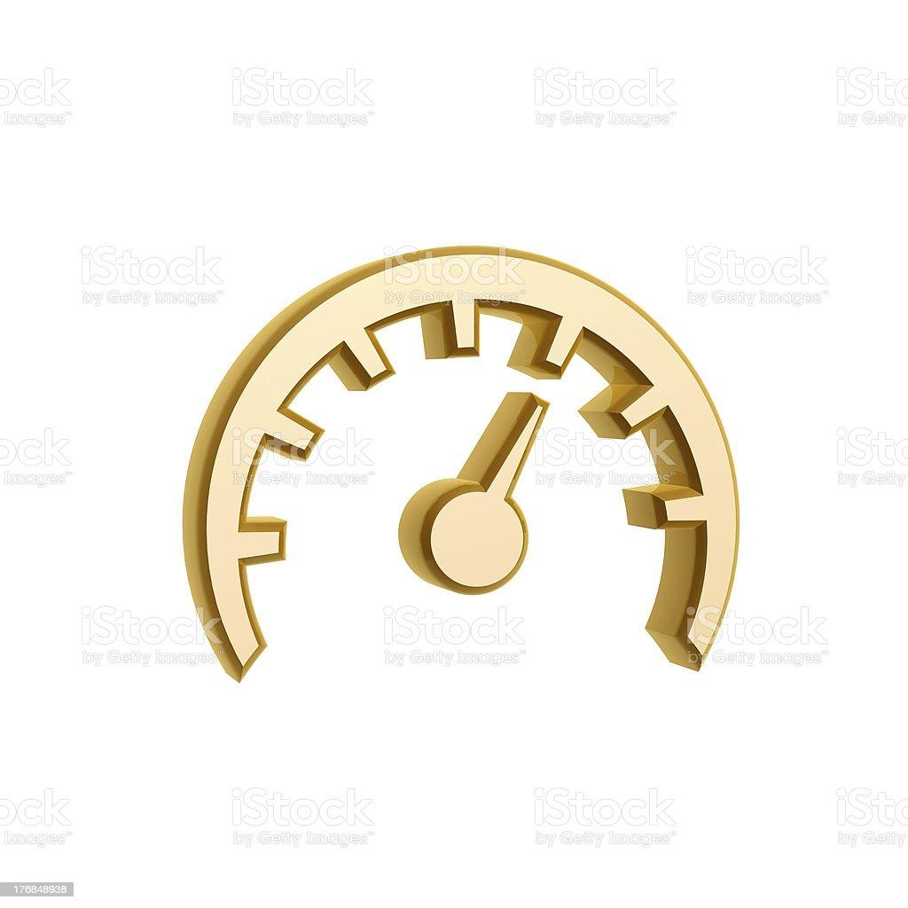 golden speed meter symbol royalty-free stock photo