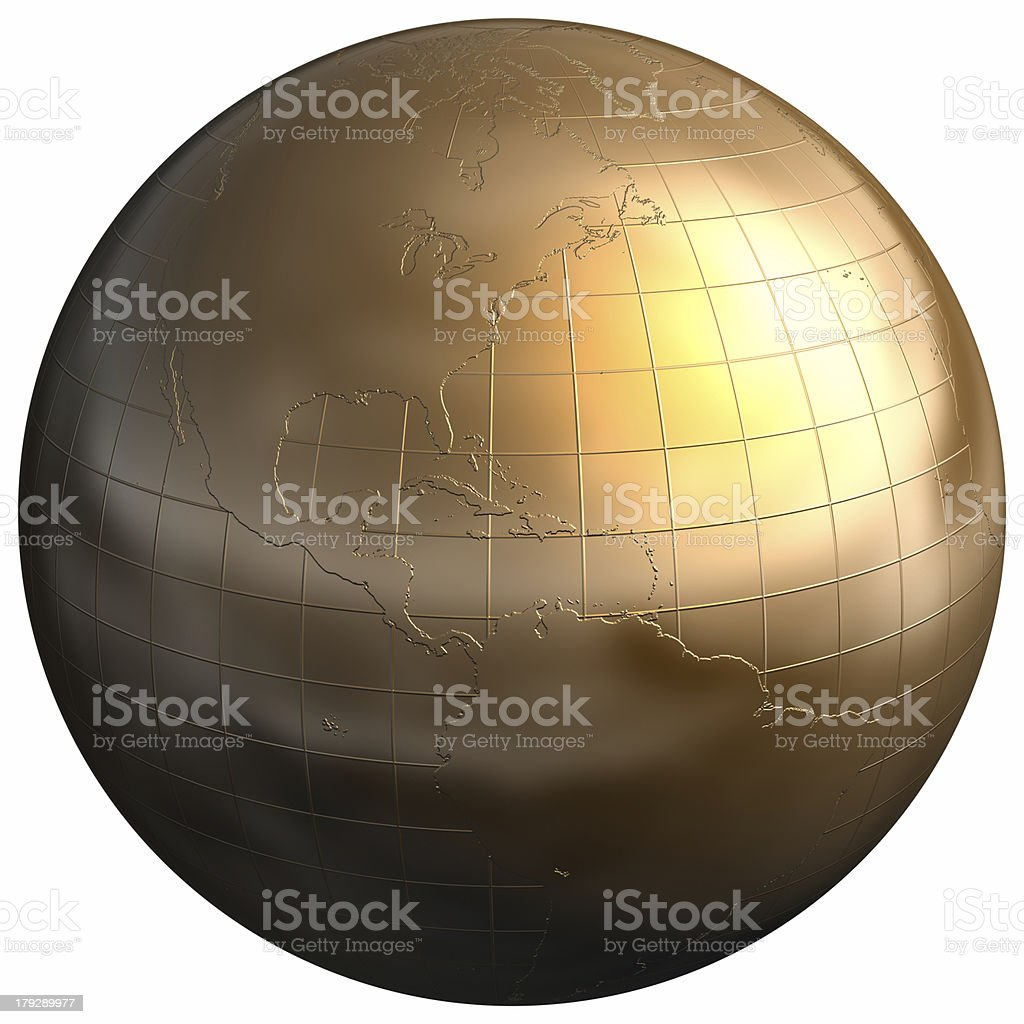 Golden Sphere [Central America] royalty-free stock photo