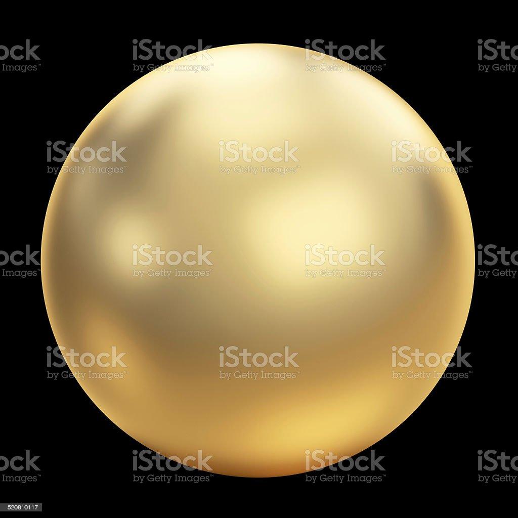 Golden sphere stock photo