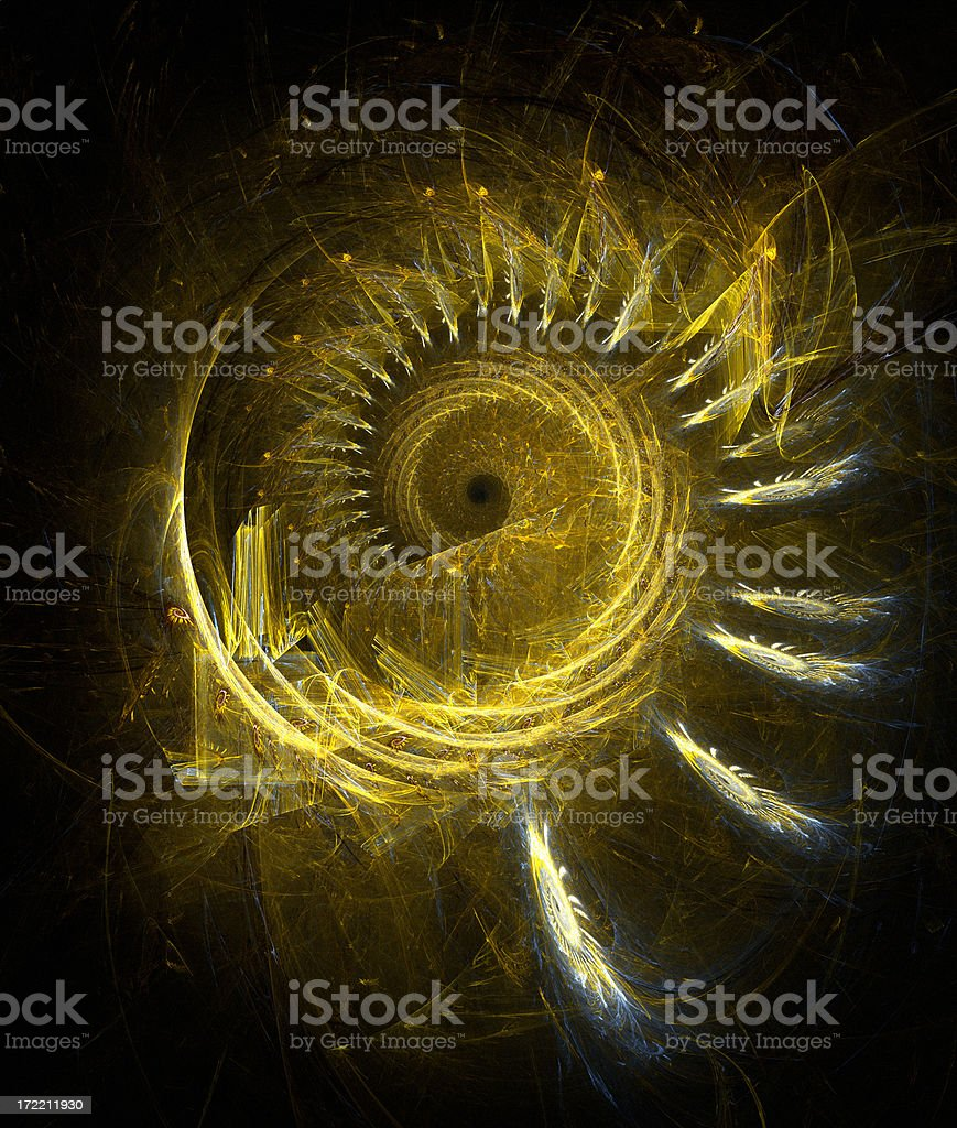 Golden spiral royalty-free stock photo