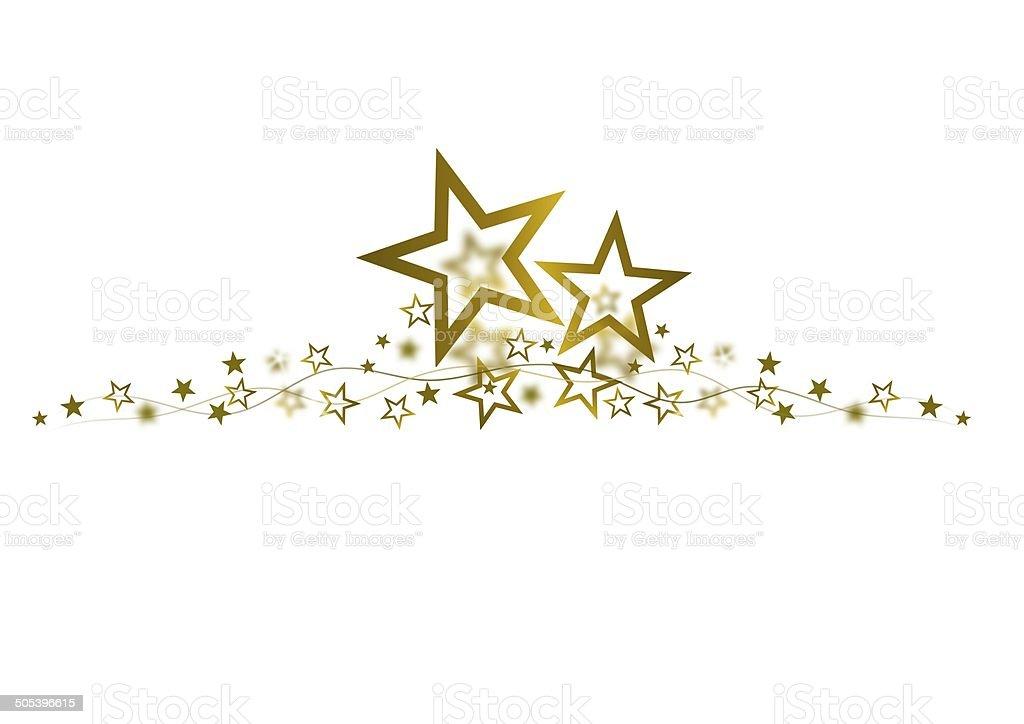 golden star frame stock photo